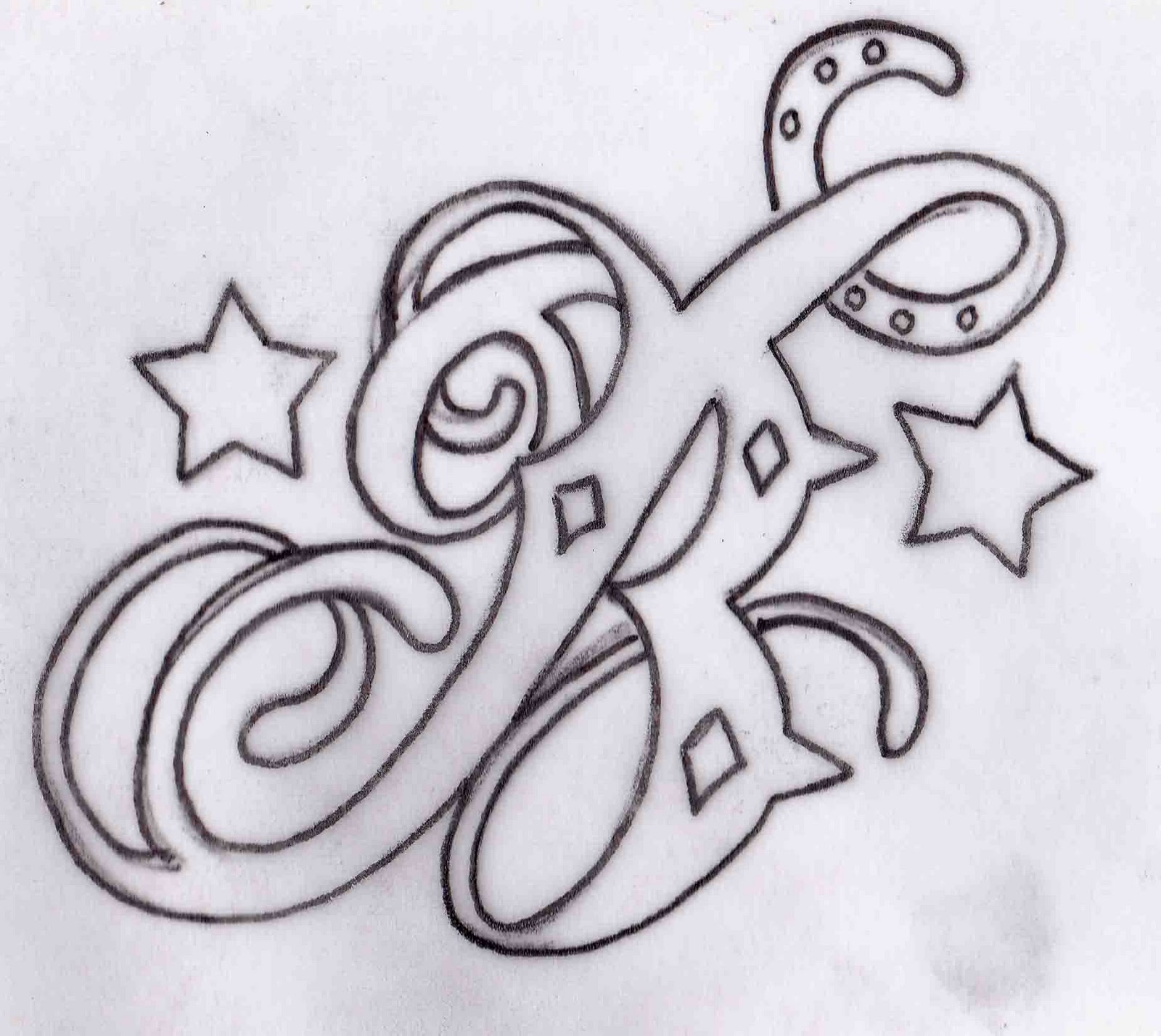 Ajke Access Tattoo Designs Letters