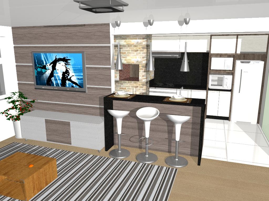 Projetos Rafinha Paim -> Divisor Sala E Cozinha
