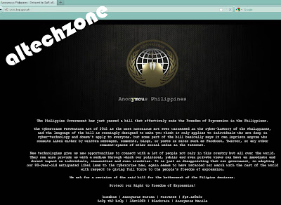 Philippine Government website hacked