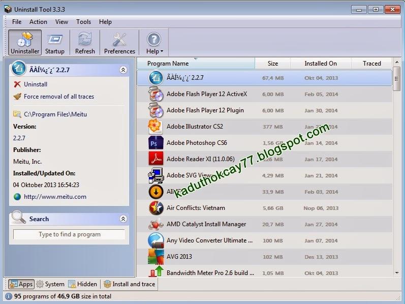 Uninstall Tools V3.3.3.5320 Full Version