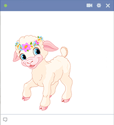 Cute lamb icon
