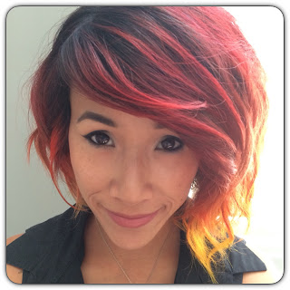 red orange yellow ombre hair