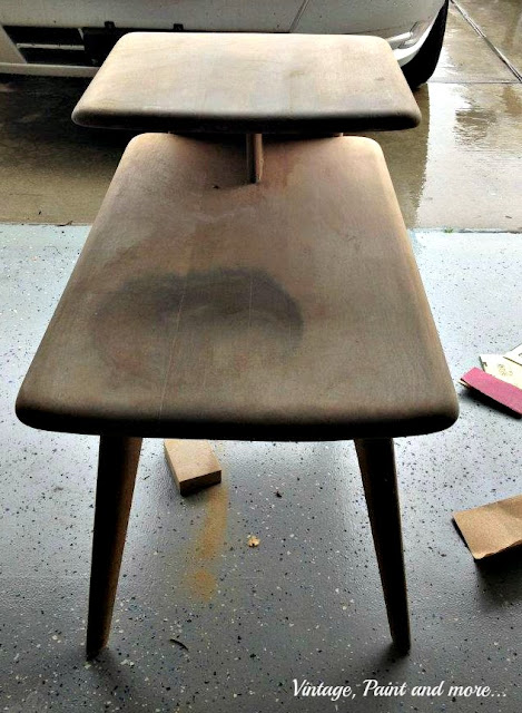Vintage, Paint and more... original shape of surfer table prior to being painted