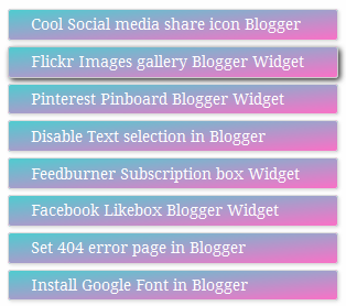 Colorful popular post widget for Blogger