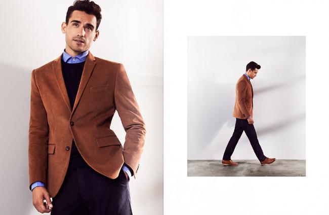 americana para marron H&M otoño 2013