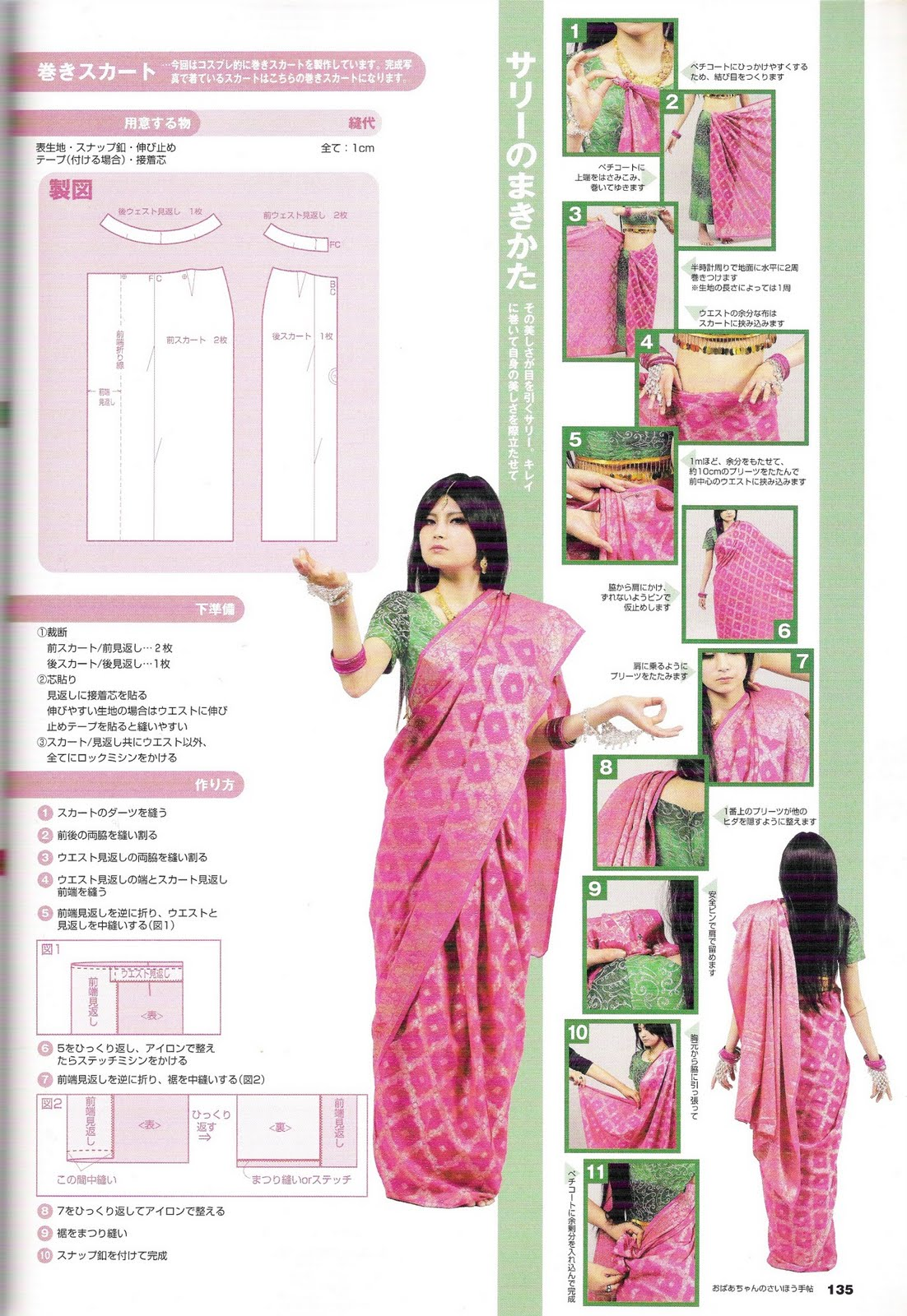 Aprendiz de Cosplayer: Patrones: ropa hindú (kurta, choli, sari)