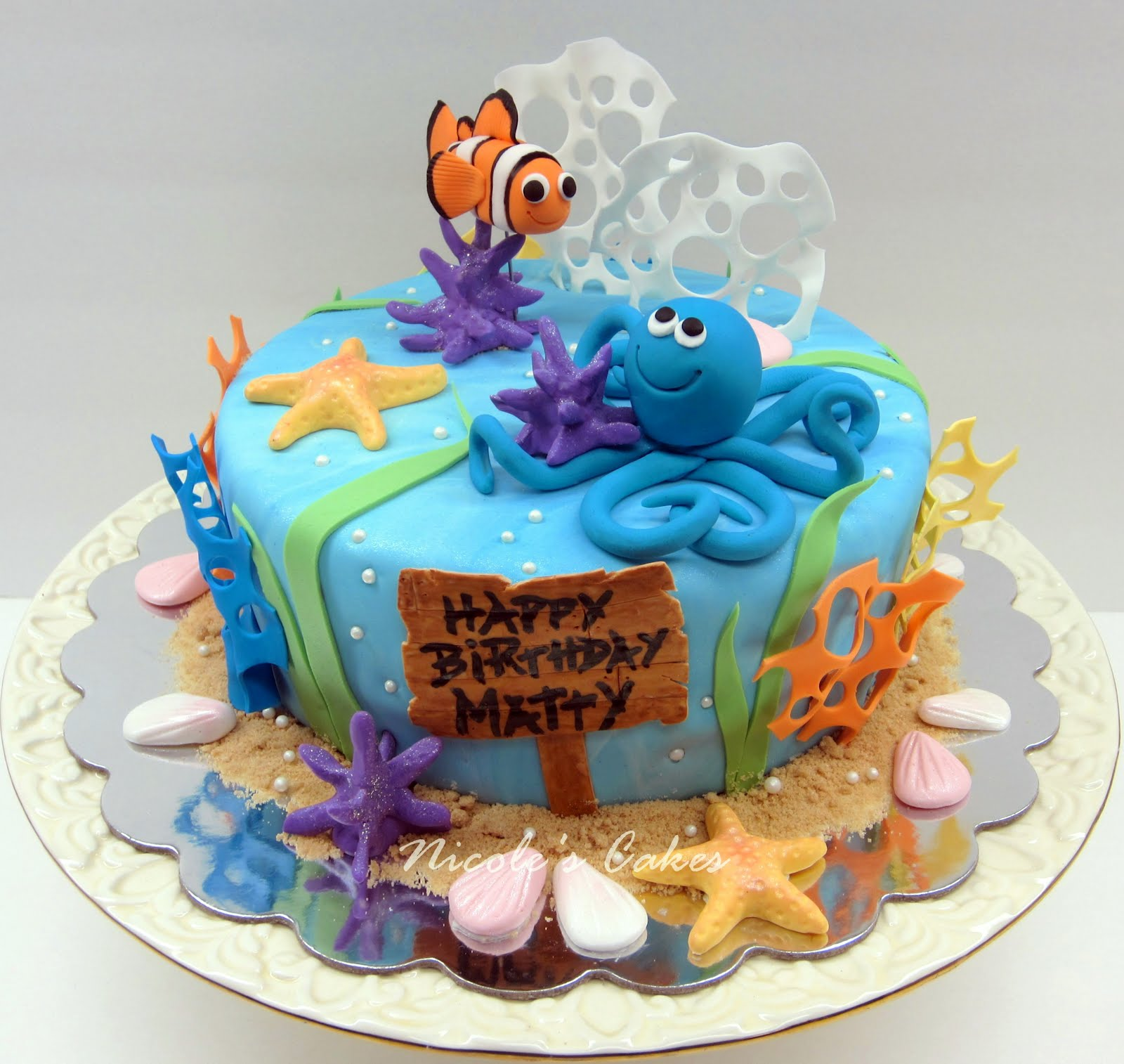 On Birthday Cakes Under The Sea Birthday Cake