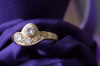 Ring made from diamonds left at the Davis Store  http://jollettetc.blogspot.com