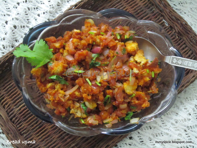Quick and easy Bread Upma