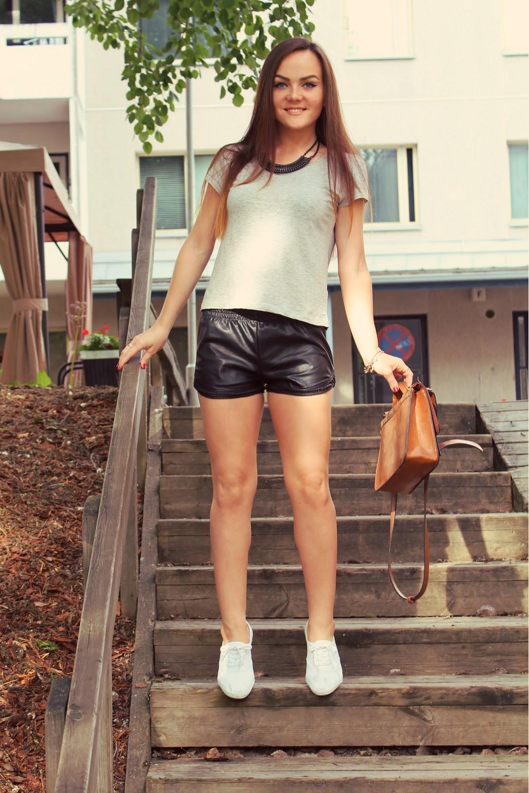 модный образ с шортами