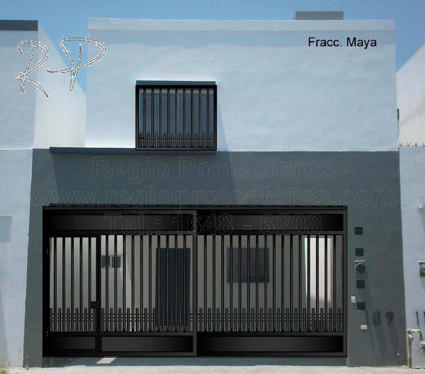 Puertas y portones residenciales madera hierro 1 vol - Puertas de cocheras ...