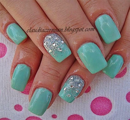 Simple Acrylic Nail Designs With on easy home nail designs