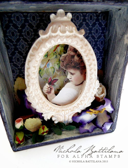 Butterfly Vignette Box for Alpha Stamps - Nichola Battilana