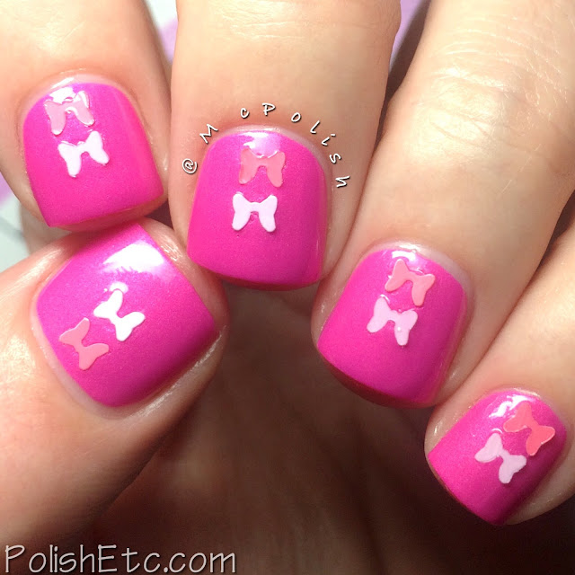The Pink Cart Nail Art Trio from Native War Paints - McPolish - Fight