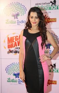 Actress Deeksha Panth  Pictures in Short Dress at Memu Saitam Dinner with Stars Red Carpet  39