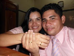 Os NOIVOS: Meu filho Alderlan e a Senhorita Josete