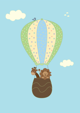 Little Sweet Designs hot air balloon boy