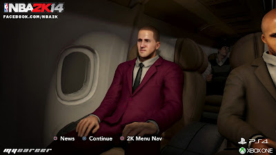 NBA 2K14 Next-Gen MyPlayer MyCareer Plane