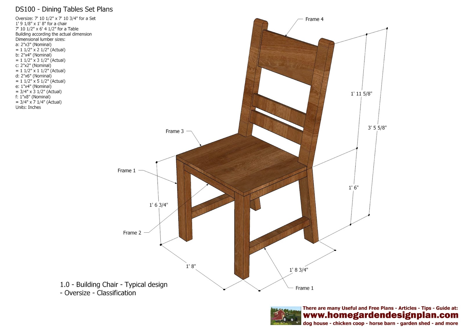 Outdoor Wood Chair Plans ~ Home garden plans ds dining table set
