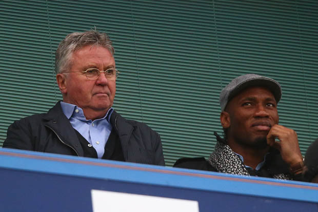 DREAM TEAM: Guus Hiddink hopes Didier Drogba can become one of his assistants