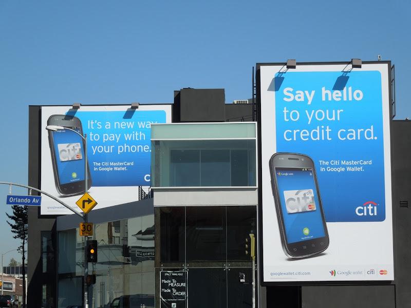 Citi creditcard phone billboards