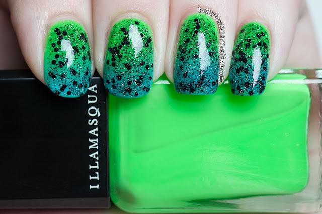 Illamasqua Swarm Nurture Serenity gradient nail polish swatch bat lash duo giveaway