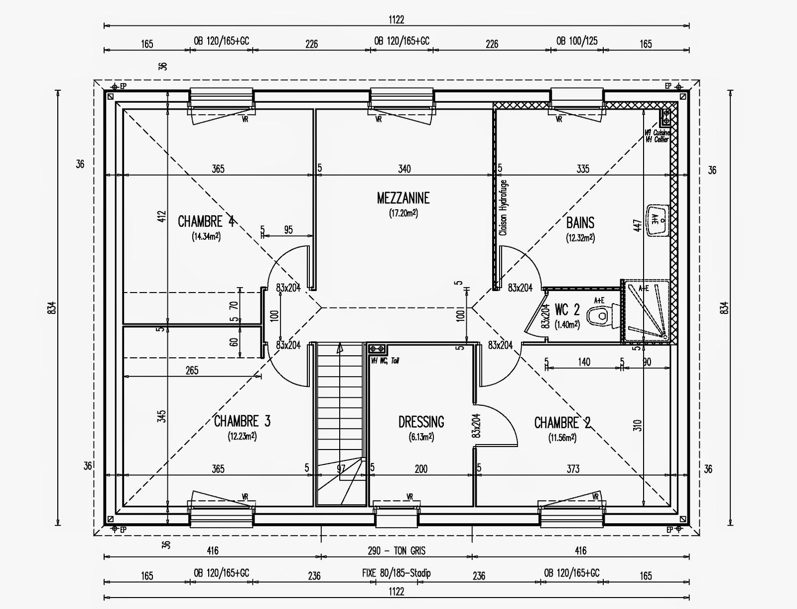 Plan de maison familiale family par maisons bastea de for Plan de maison familiale