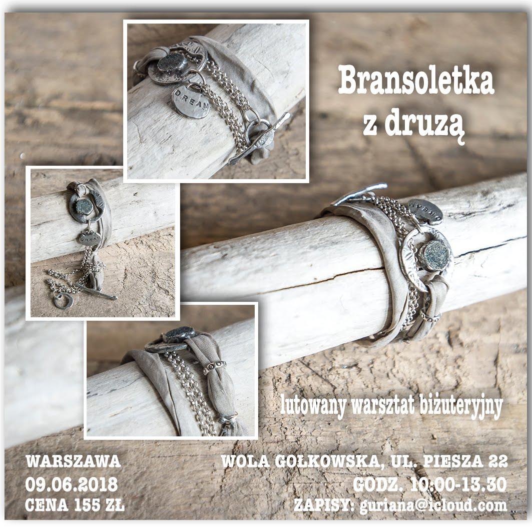 Lutowany warsztat biżuteryjny : Branslotka z druzą