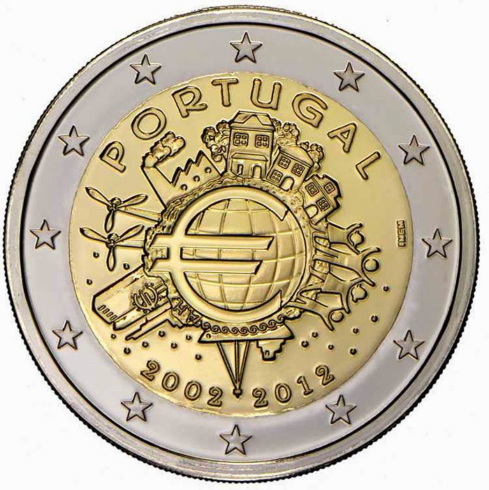 2 euro Portugal 2012, Ten years of Euro cash
