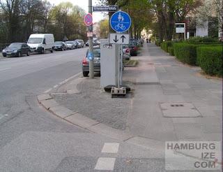 """""""Radweg"""" Hofweg / Schenkendorfstraße"""