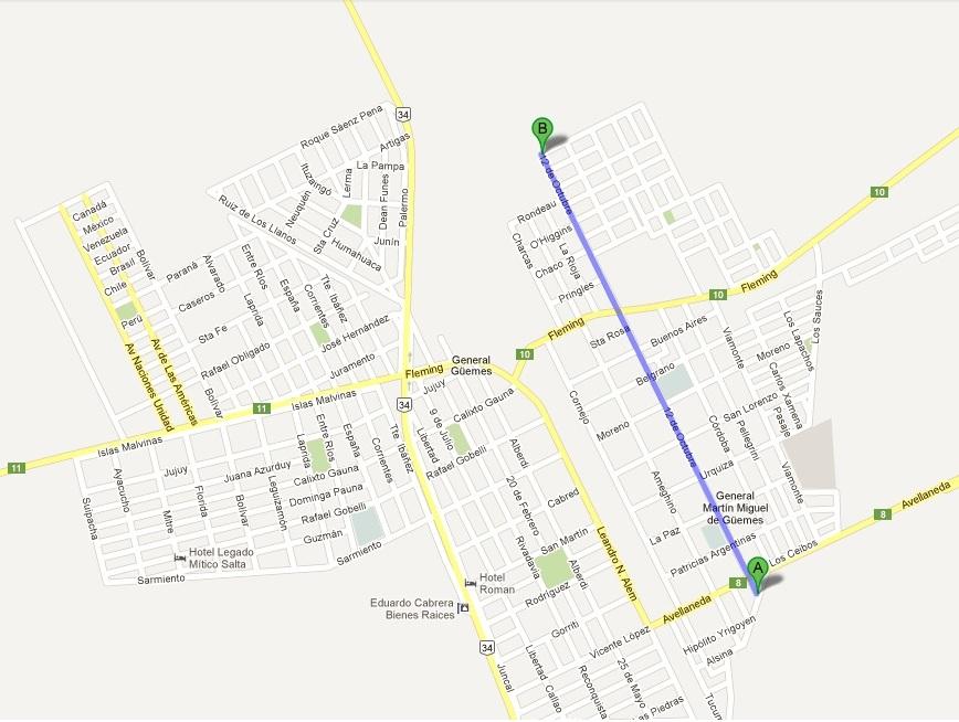 12 de octubre mapa: