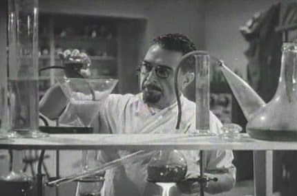 Lab scene, The Monster Maker (1944)