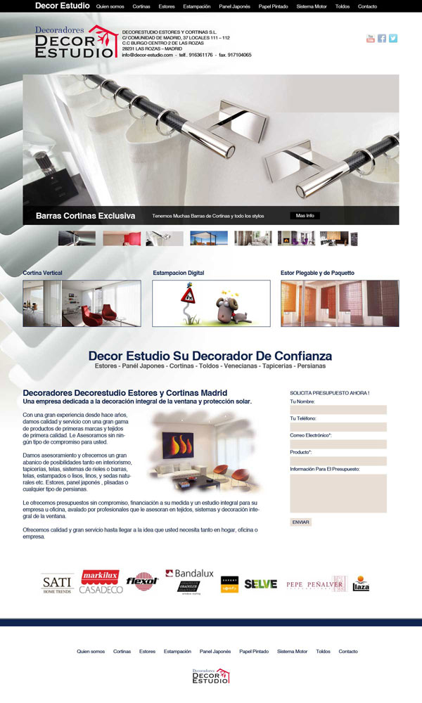 decor estudio cortinas y estores en Madrid