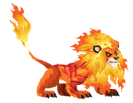 imagen del fire lion de monster legends