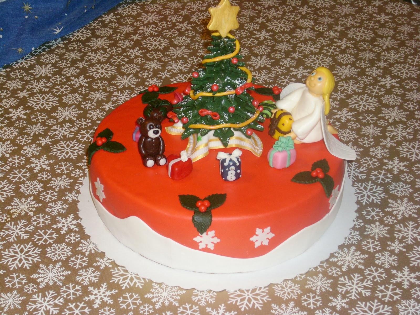 andrea s tortenhobby torte weihnachten mit christkind und. Black Bedroom Furniture Sets. Home Design Ideas