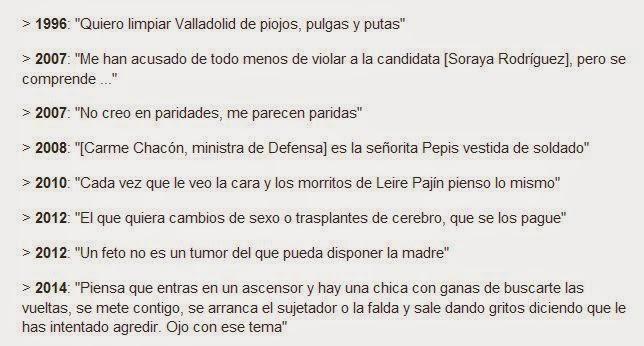 Barbaridades del alcalde de Valladolid