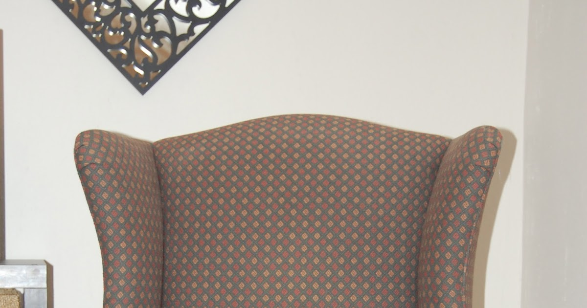 Praying For Sunshine How To Reupholster A Wingback Chair