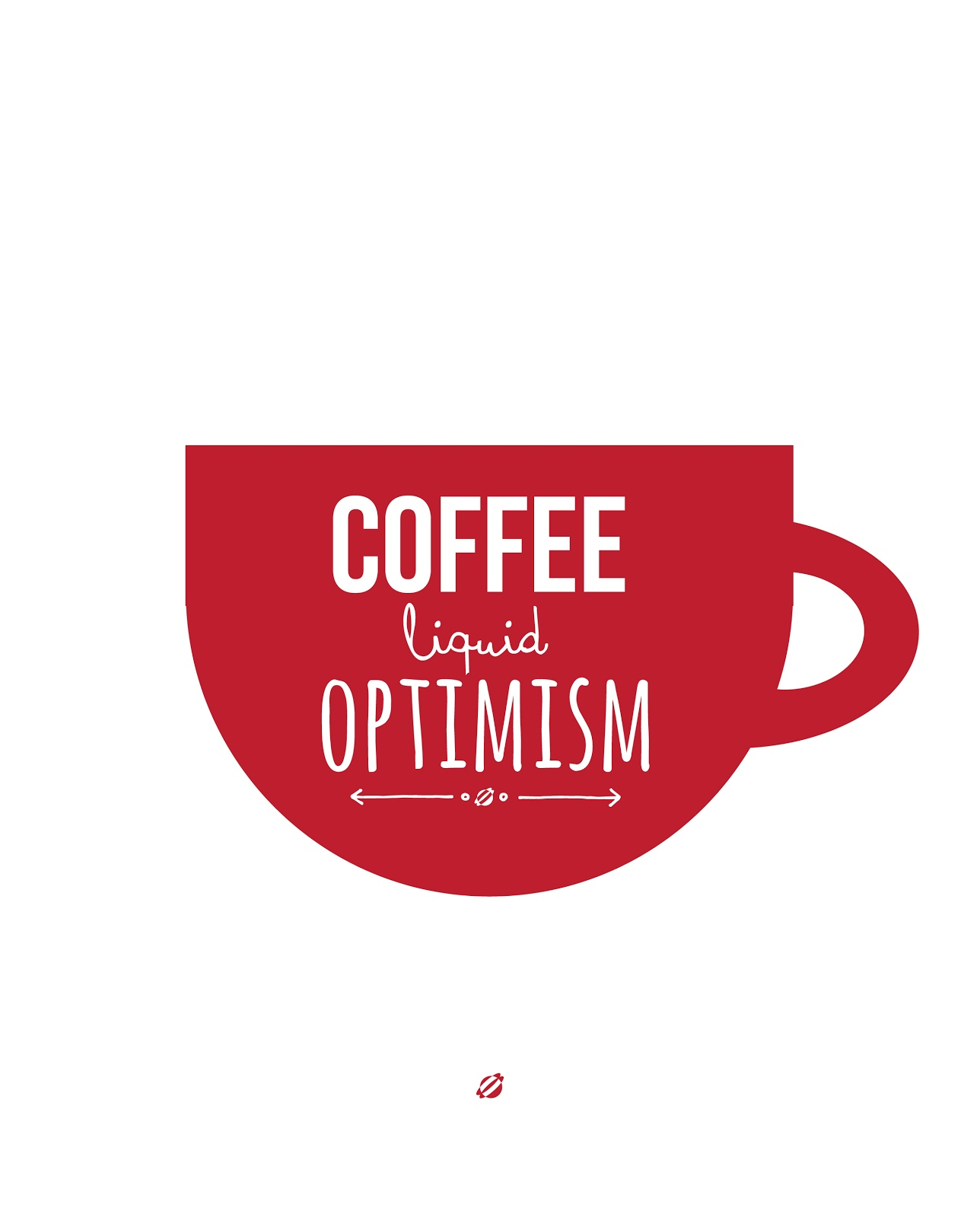 LostBumblebee 2013 LIQUID OPTIMISM COFFEE - FREE PRINTABLE