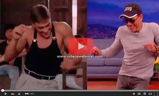 "Jean-Claude Van Damme recrea el baile de ""Kickboxer"""