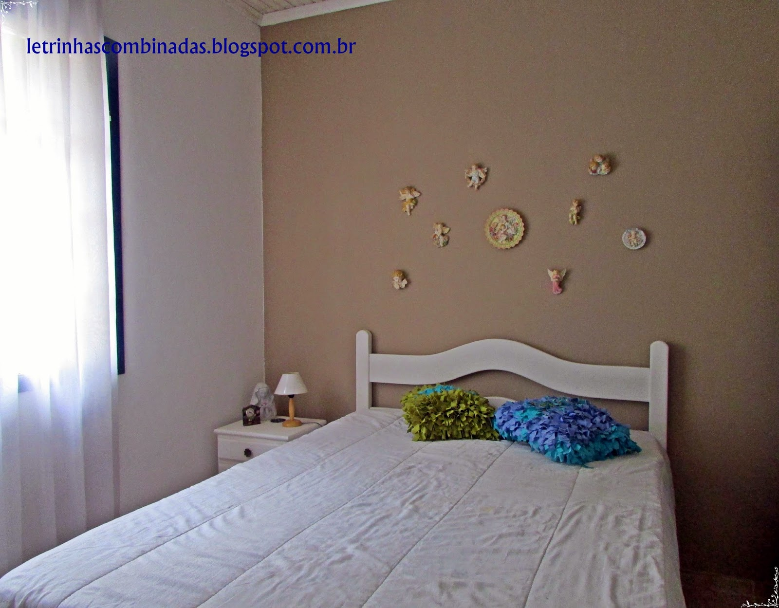 ideia de decoração parede de quarto