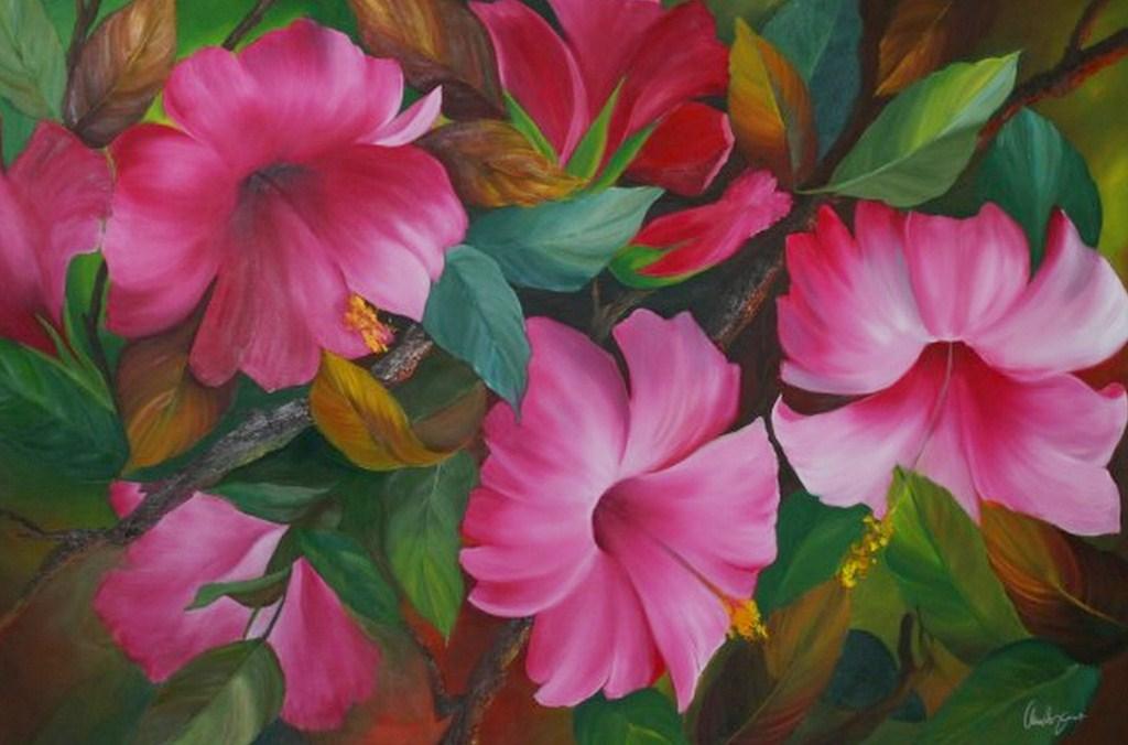 Cuadros modernos pinturas y dibujos bodegones de flores - Pintar en lienzo para principiantes ...