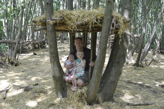 Mr Tin Box, Tin Box Baby and Tin Box Tot sitting in our den