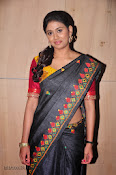 Actress Maneesha Photos in Saree-thumbnail-16