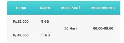 cara daftar paket internet begadang XL android