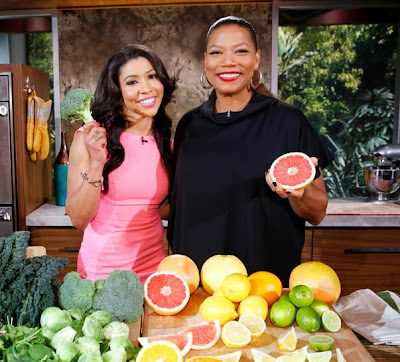 Queen Latifah with fruit
