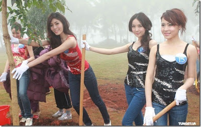 20 Miss Asia Candidates Attended The Tree Planting Activity