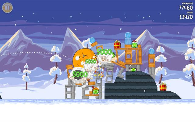 Download Angry Birds Seasons with new Christmas Calendar and 25 Levels
