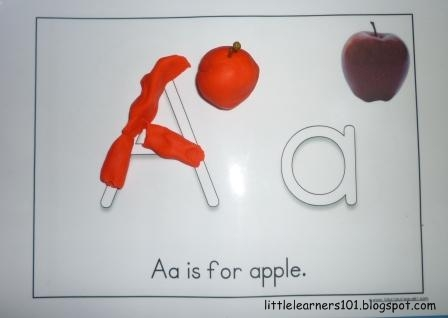Little Learners Letter Aa And Red