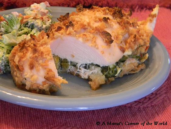 Spinach and Feta Stuffed Chicken Breasts with Onion Coating Recipe ~ A ...