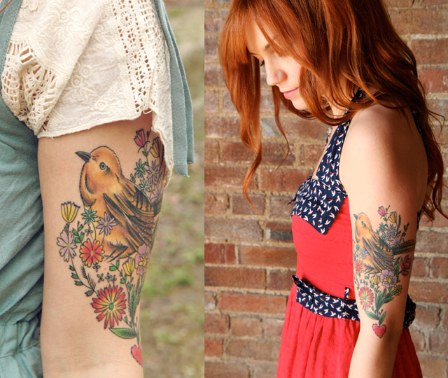 Featured tattoo/location: Bird